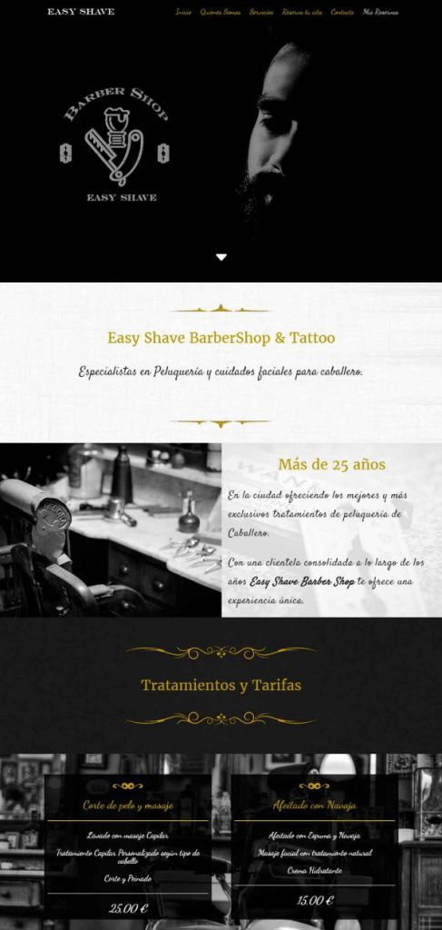 Portafolio Webficina Barber Shop 1
