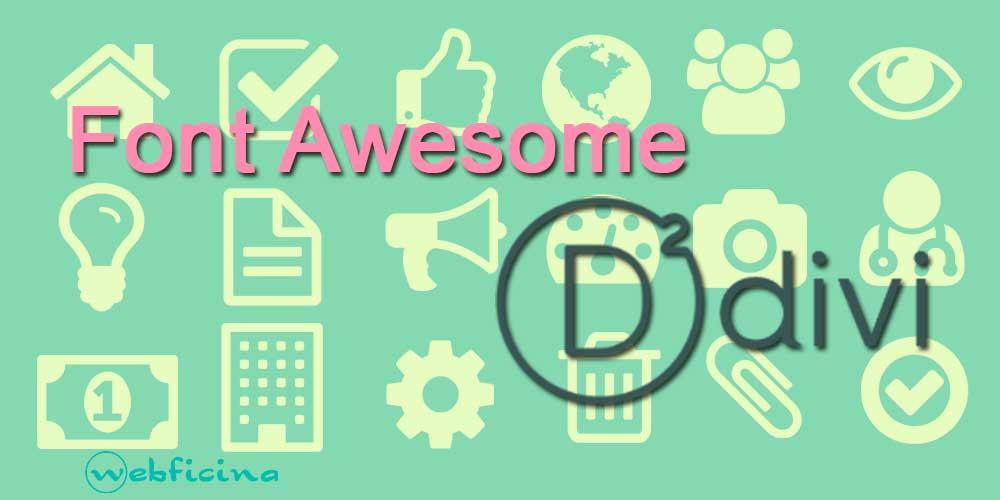 webficina Font Awesome en Divi